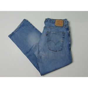 Levi's 569 36 X 32 Loose Straight Blue Jeans Denim